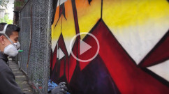 live graffiti art