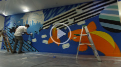 Weber Shandwick PR - Graffiti Mural Video