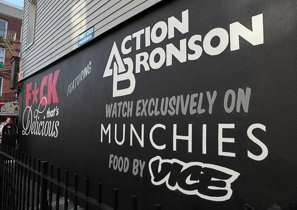 Brooklyn Sign Painter Mural for Vice