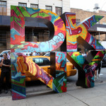 DKNY Taxi Chelsea Fashion Show Street Art