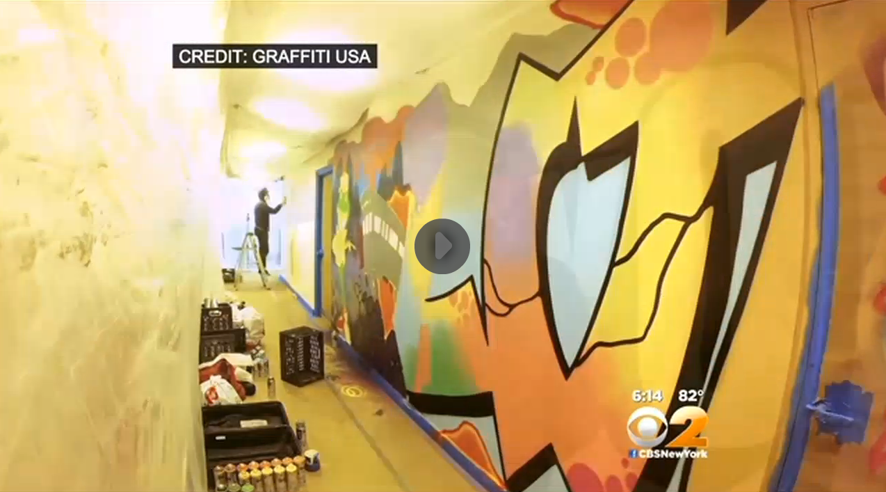 CBS News Graffiti Art at LinkedIn Office