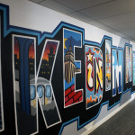 Large Letter Postcard Mural Style - LinkedIn Office