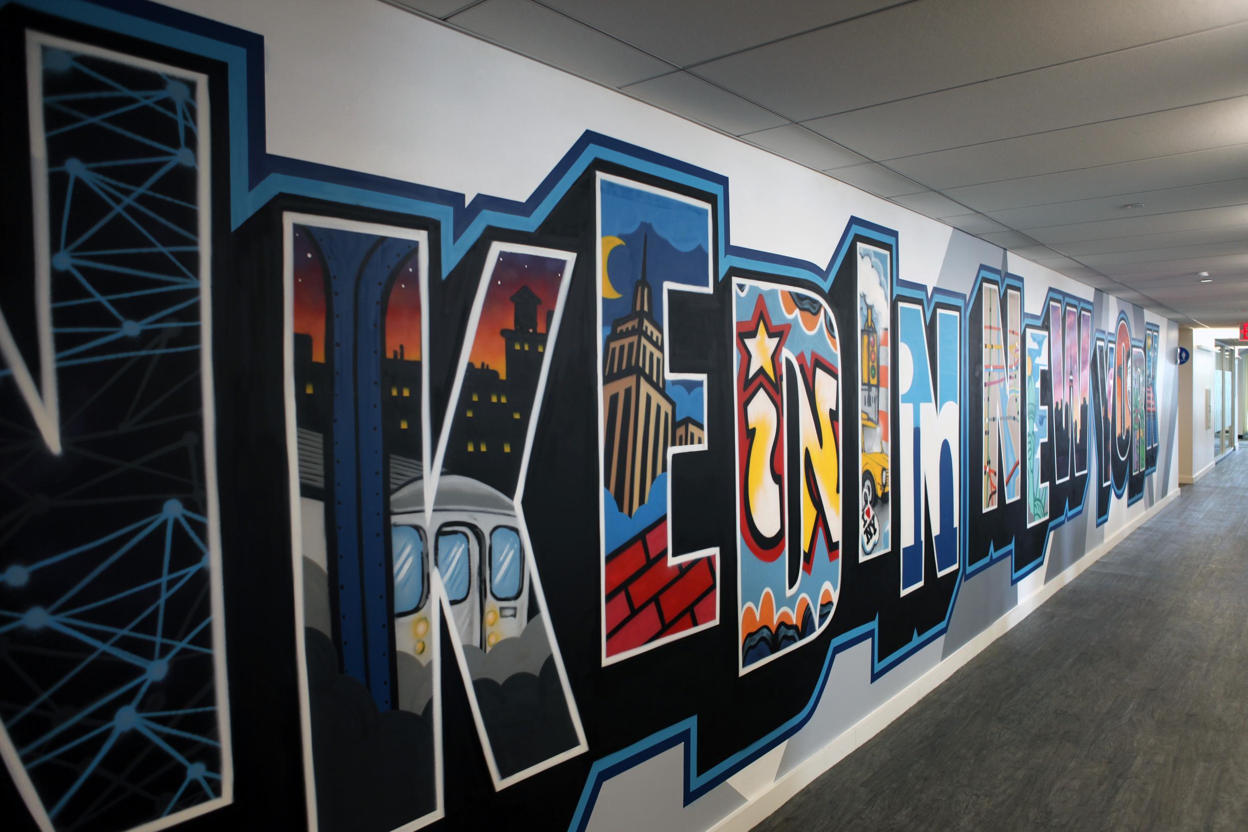 Linked In Ny Office Graffiti Murals