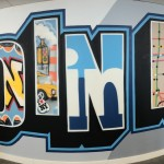 Panorama of LinkedIn Street Art in Office