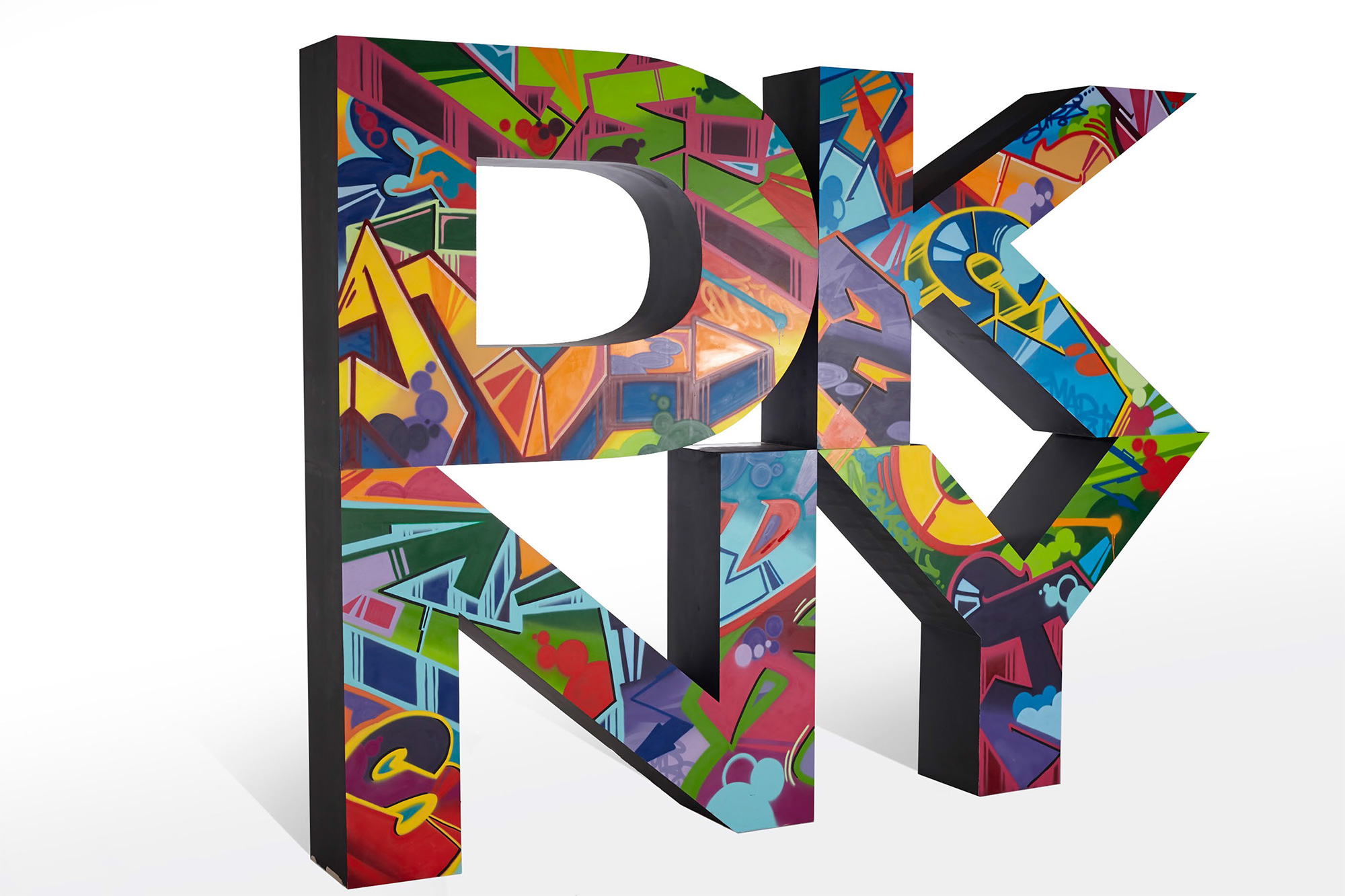 DKNY Fabricated Letters Graffiti - 2013 Spring