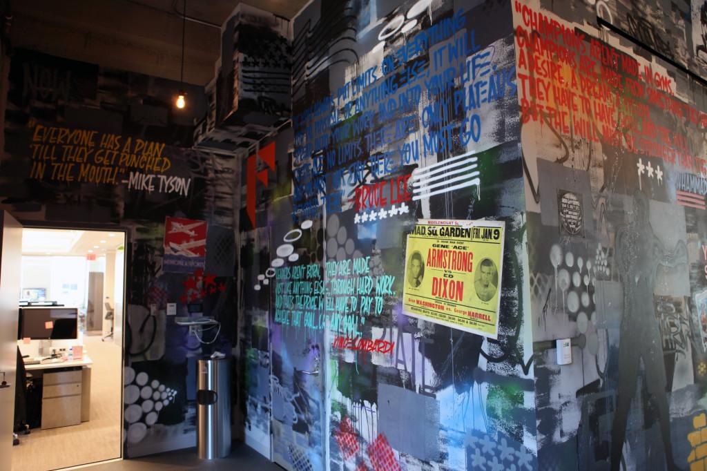 Wheatpaste Street Art Graffiti Interior