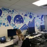 Facebook Office in NY - Graffiti Art Installation