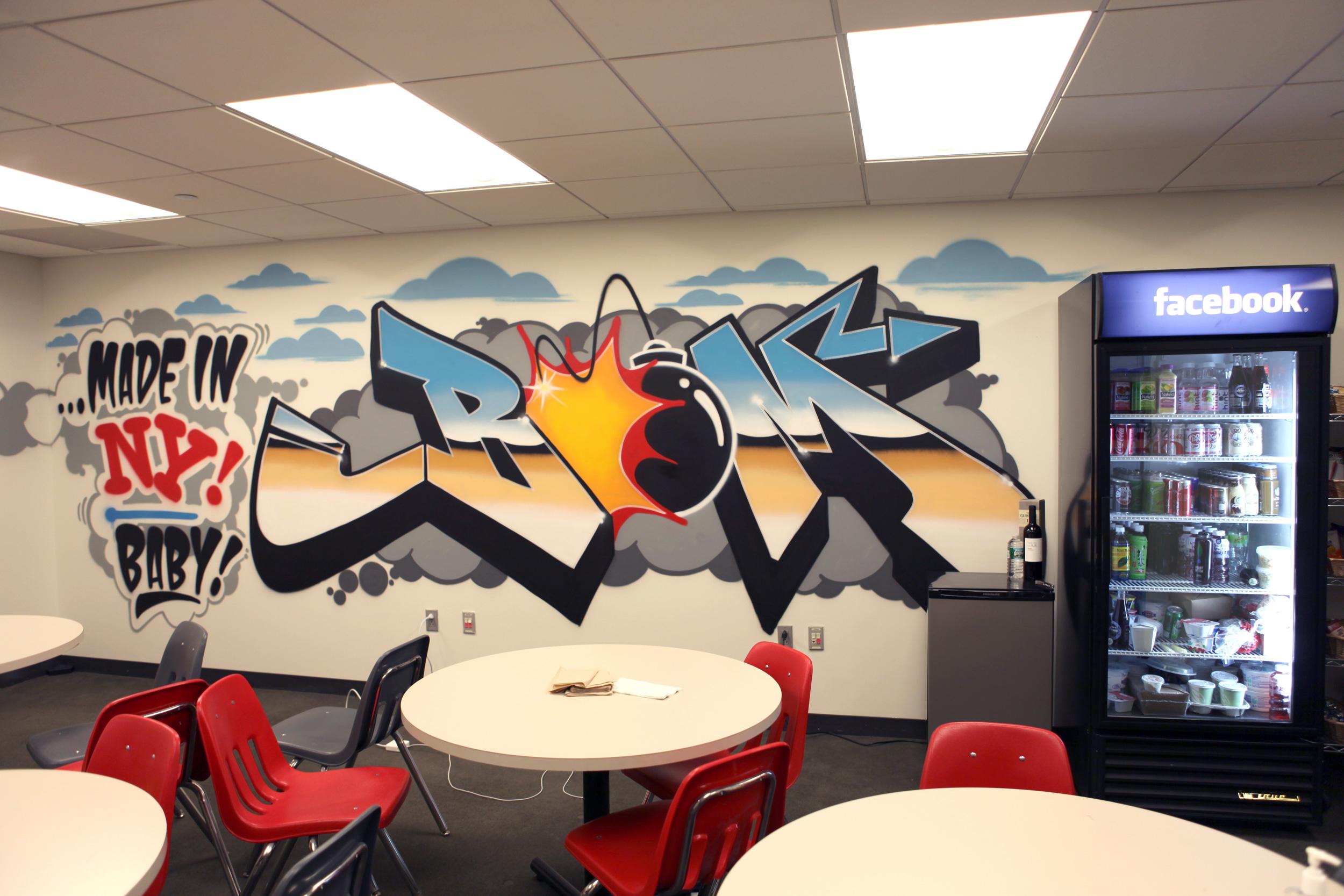New York Facebook Office Graffiti Art