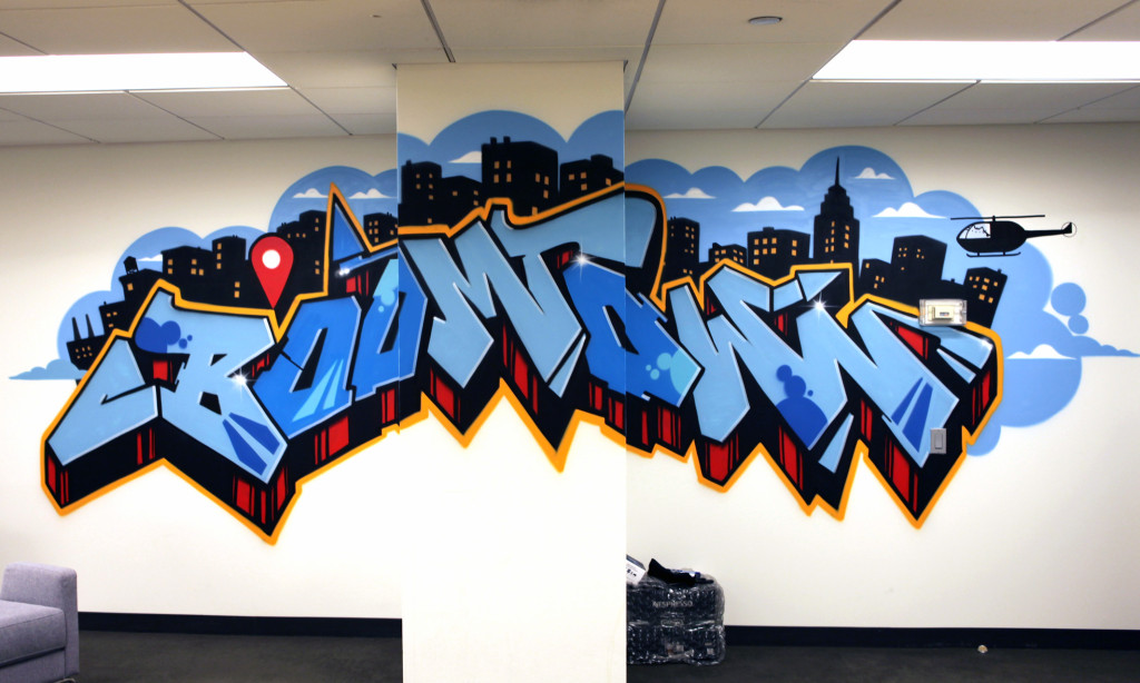 Facebook Office Graffiti Mural