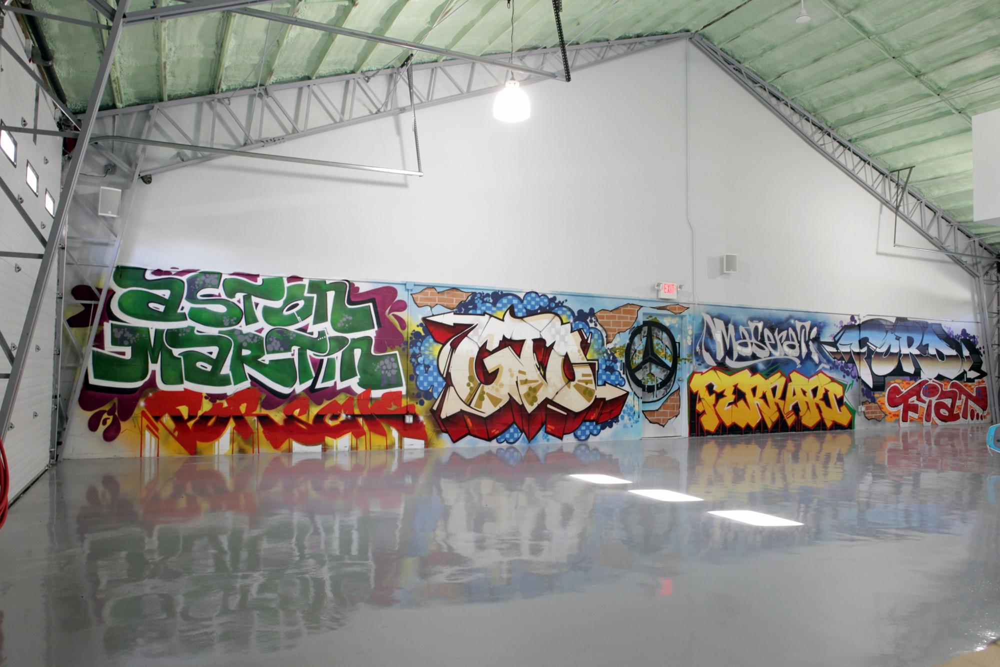 High End Residential Graffiti Man Cave