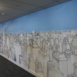 Seb Gorey Skyline - LinkedIn Office Mural