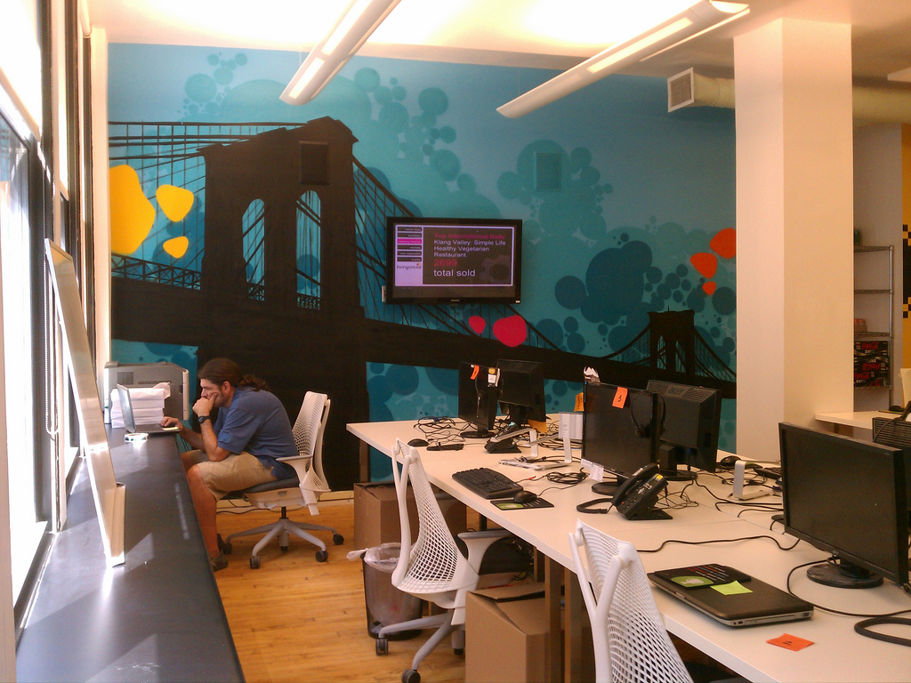 Living Social New York Brooklyn Bridge Office Graffiti