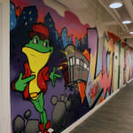 Anthony Mast Frog Character Subway Mural in Office