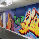 LinkedIn Graffiti Pigeon NYC Office Mural