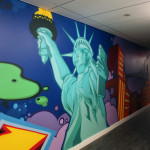 Statue of Liberty Graffiti Street Art in Office Space