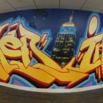 Empire State Building Graffiti for LinkedIn