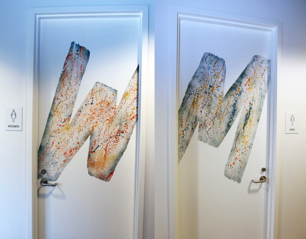 Abstract Bathroom Murals