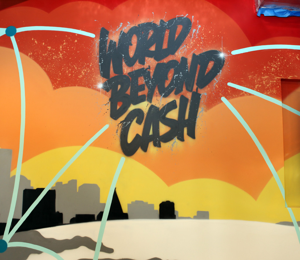 Corporate Office Graffiti Art - World Beyond Cash