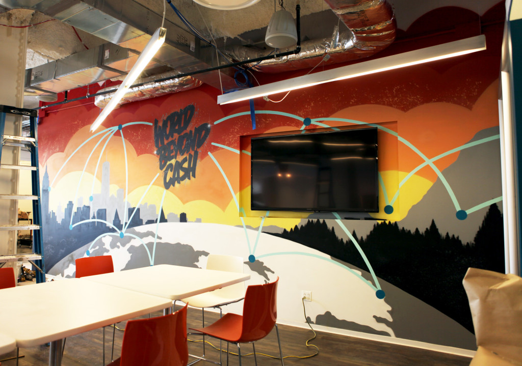 Corporate Office Graffiti Mural for Mastercard HQ