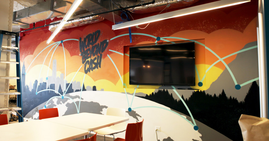 World Beyond Cash Mural for Mastercard NY Office