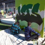 Live Art for Jets Campaign at Metlife Stadium