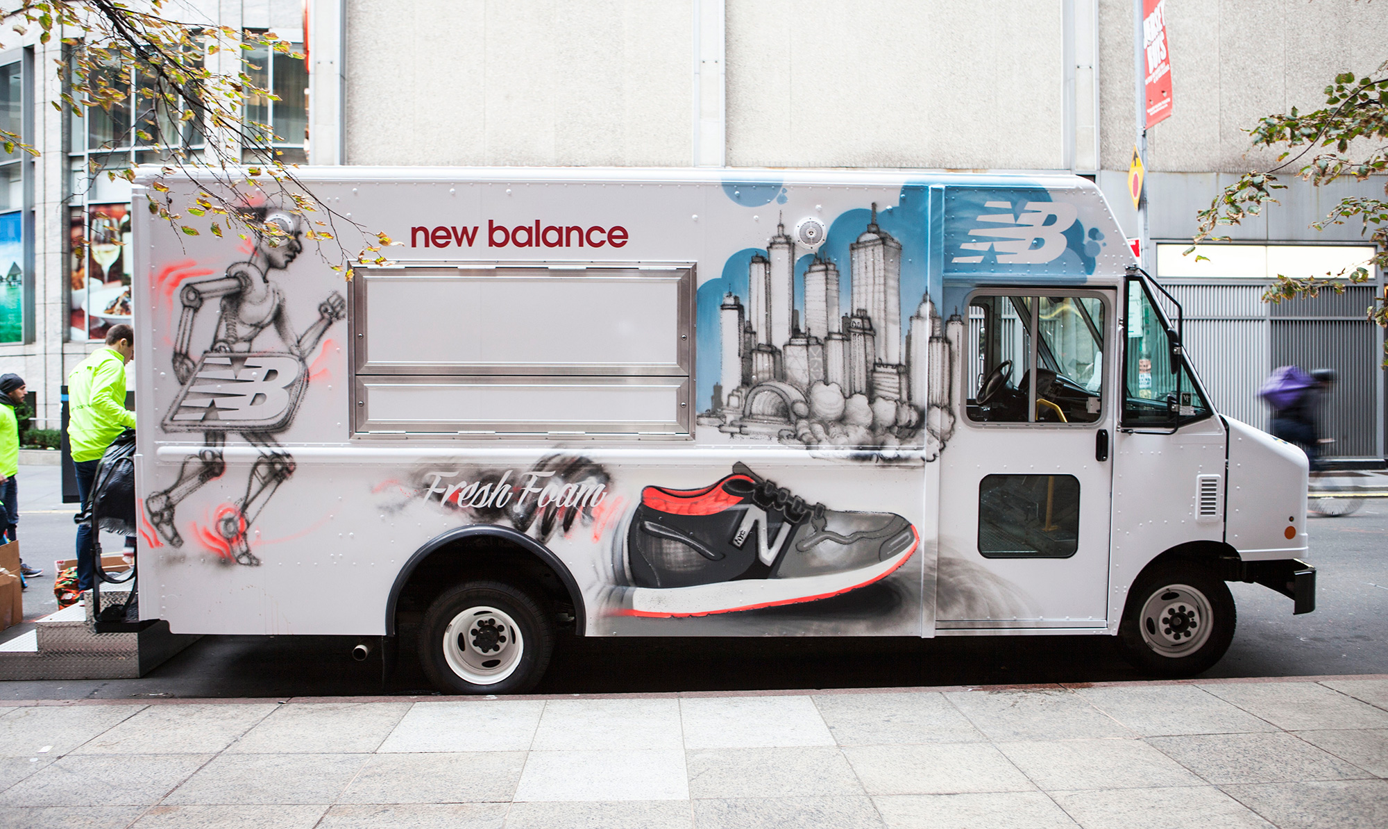 New Balance Street Art for Event in NY