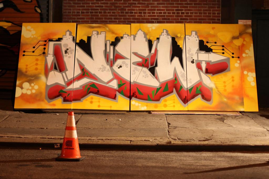 New York Street Art on Canvas