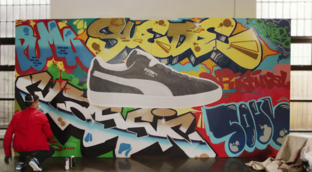 Graffiti Artist Talent in Commercial for Sneaker Brand