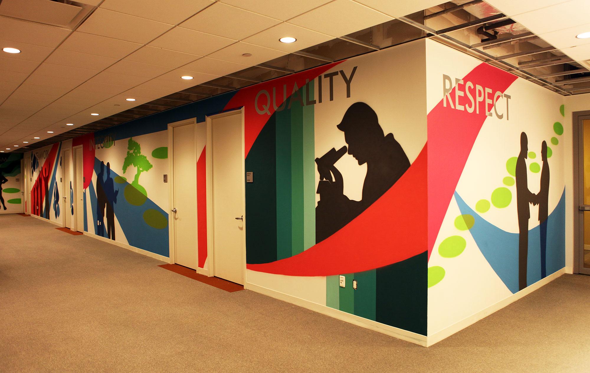 Eisai pharmaceutical company graffti mural graffiti usa for Corporate mural