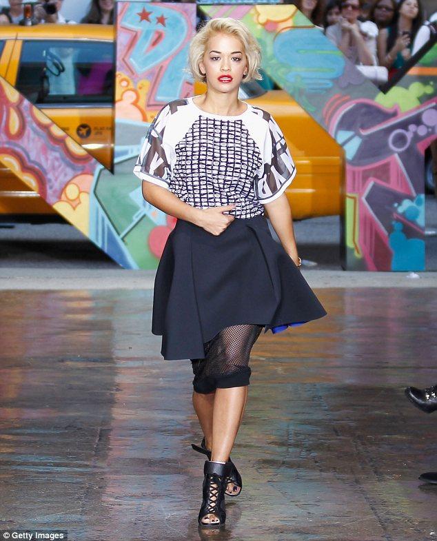 Rita Ora DKNY Fashion Show