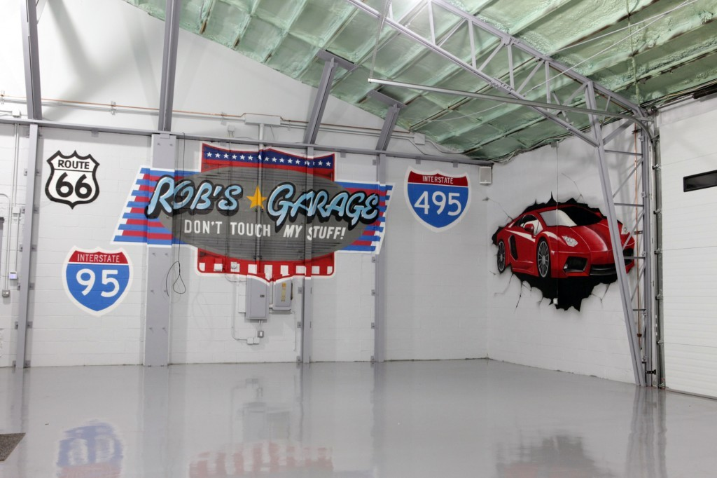 Luxury Graffiti Garage Mural Long Island car collection