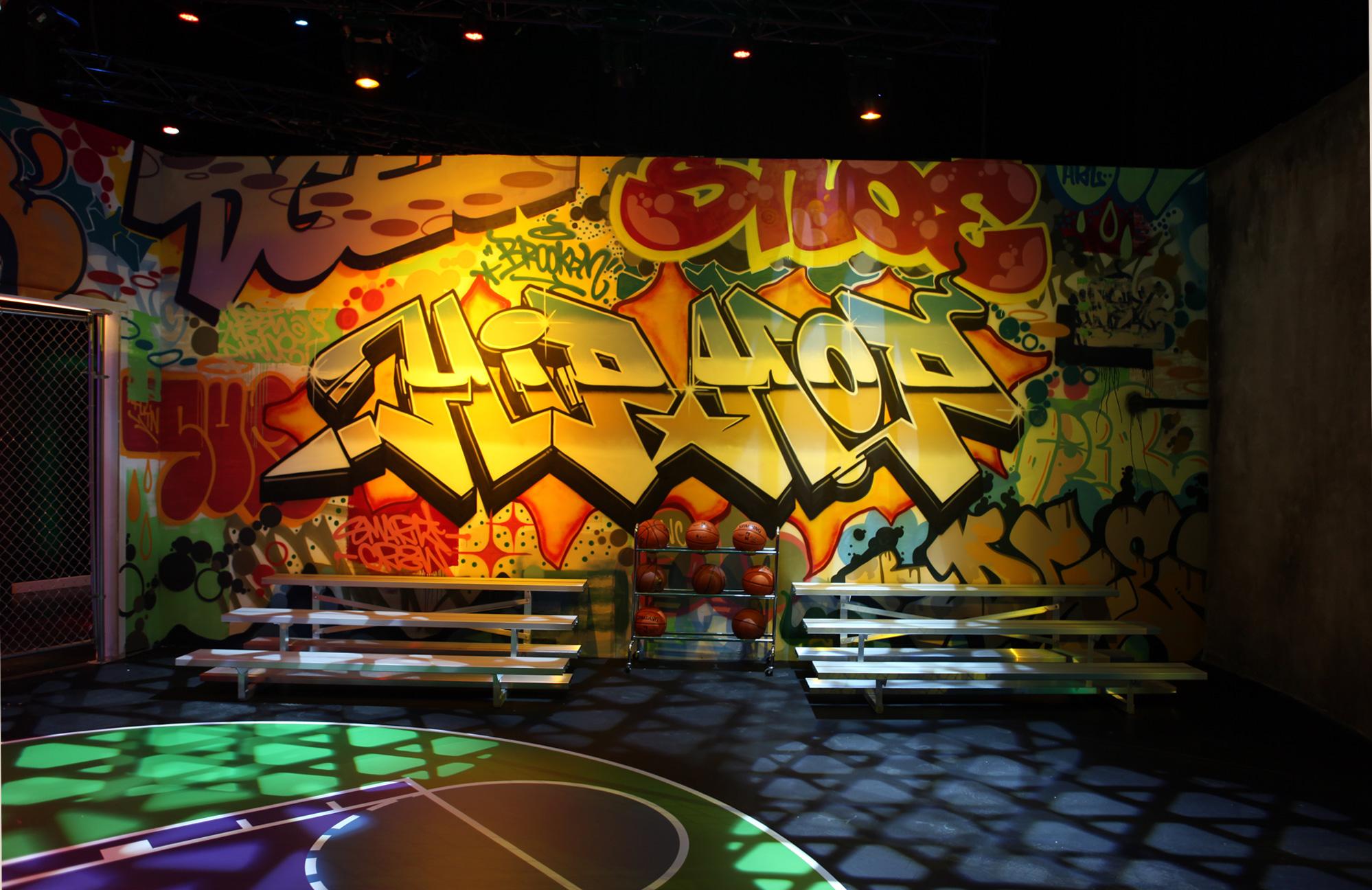 Samsung Milk Music Graffiti Venue Hip-Hop Room