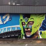 Seattle Street Art Mural - Sounders FC