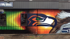 Seattle Seahawks Bar Mural in WA