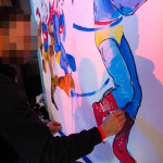Seb Gorey Painting During Youtube Event in NY