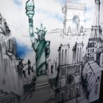Statue of Liberty Seb Gorey Mural - Sofitel