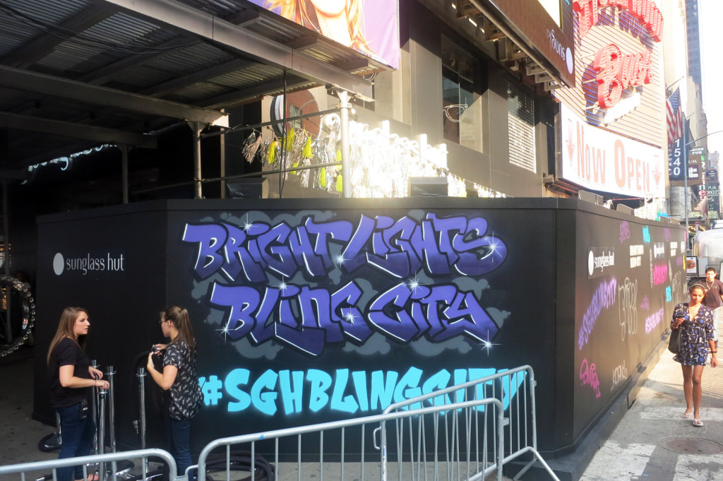 Bright Lights Bling City Times Square Graffiti Art