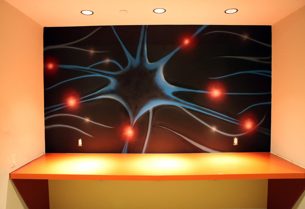 Science and Lab Graffiti Art Interior