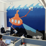 Taboola Submarine Graffiti Mural in Office