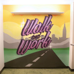 Walk and Work Treadmill Table Graffiti Wall Art