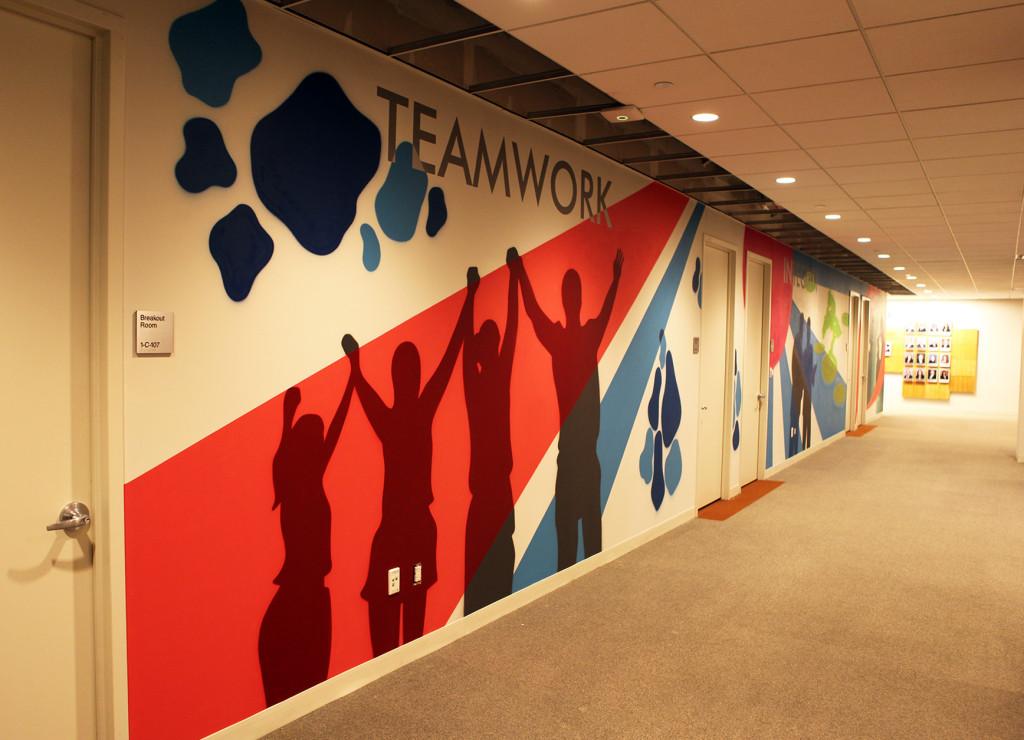Teamwork Office Mural in NJ