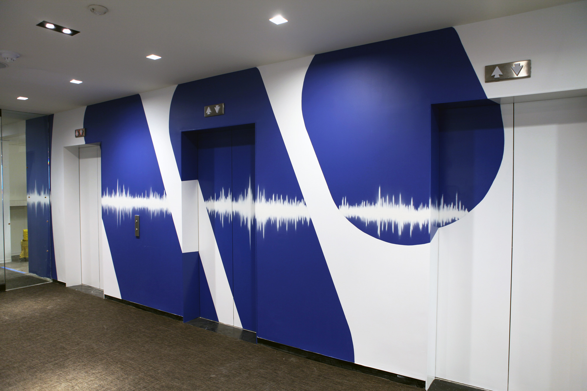Warner Music Group Office Murals Graffiti Usa