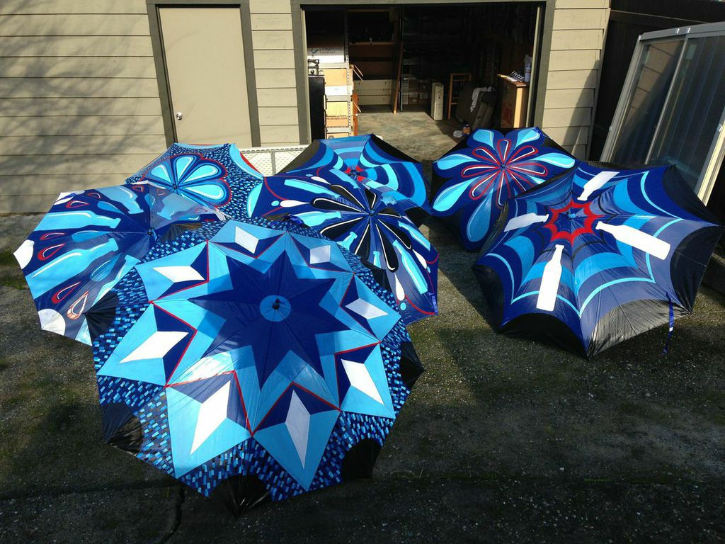 Todd Lown Umbrella Art for Super Bowl in Phoenix