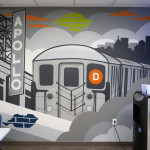 D Train Street Art Mural in Brooklyn Office - Cases