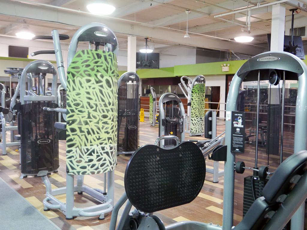 Graffiti Tags on Fitness Equipment in NJ