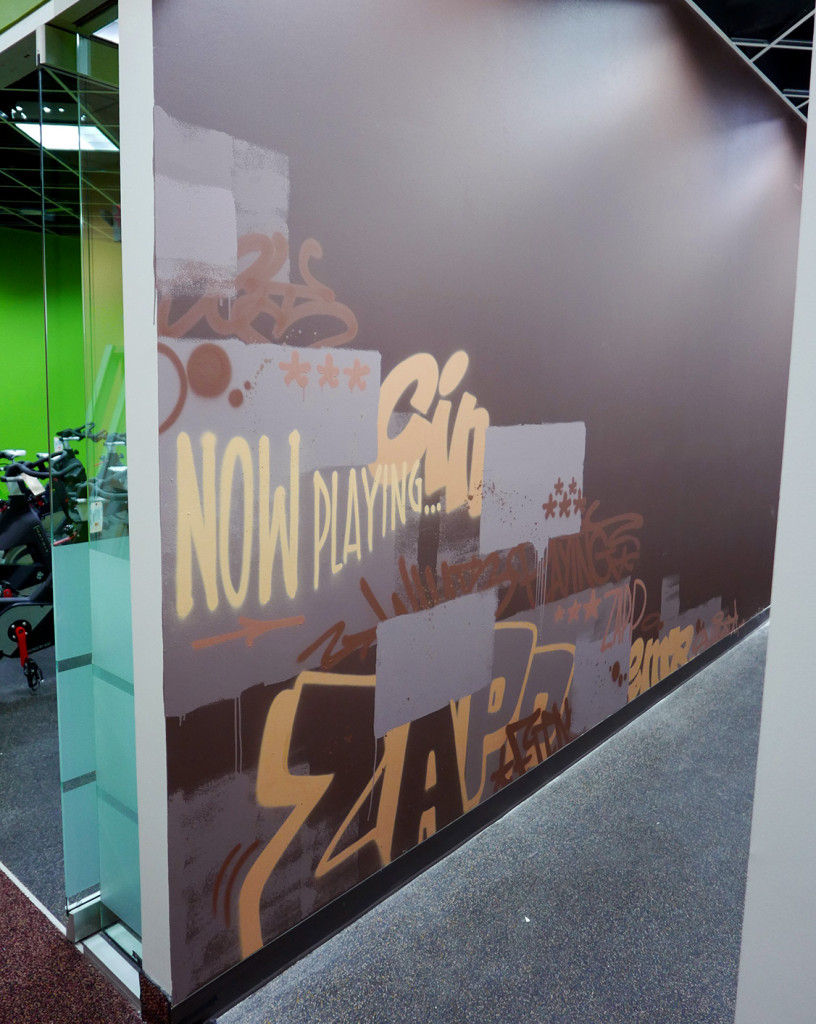 Zapp Fitness Graffti Art