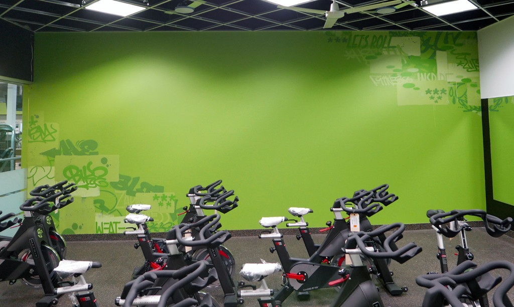 NJ Gym Mural - Green Wall Graffiti