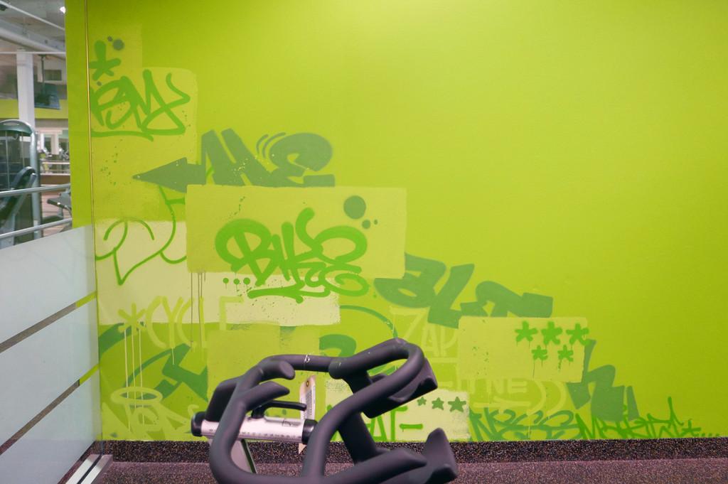 Graffiti Texture Wall at NJ Gym Mural