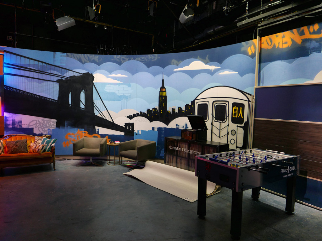 Fuse TV WGTS Graffiti Set Design