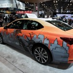 Statue of Liberty Live Art on Acura TLX - NYC